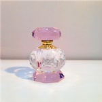china crystal perfume bottle with pink color