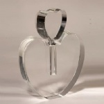 heart shape crystal perfume bottle