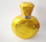 shining gold color women perfume bottle design